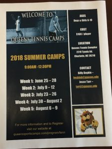 charlotte tennis kids camp